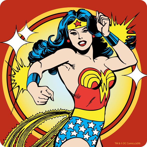 medscaleu_20260840_Half Moon Bay_Homewares_Coasters_wonder-woman-action-hero-coaster