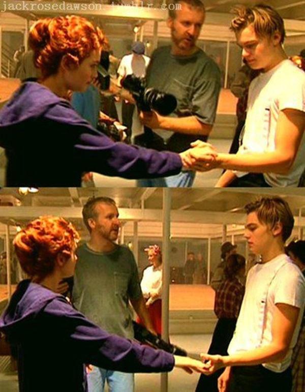 James Cameron, Leonardo DiCaprio e Kate Winslet
