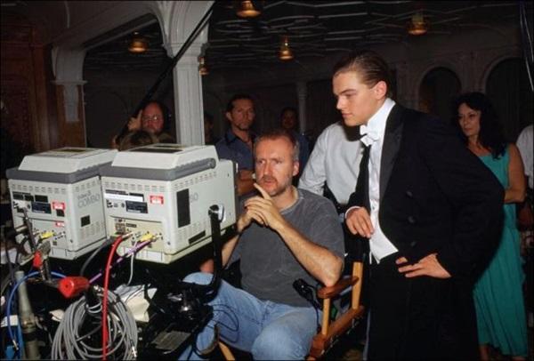 James Cameron e Leonardo DiCaprio