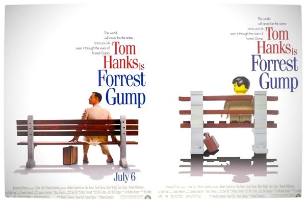 Releitura do poster do filme feita com lego!