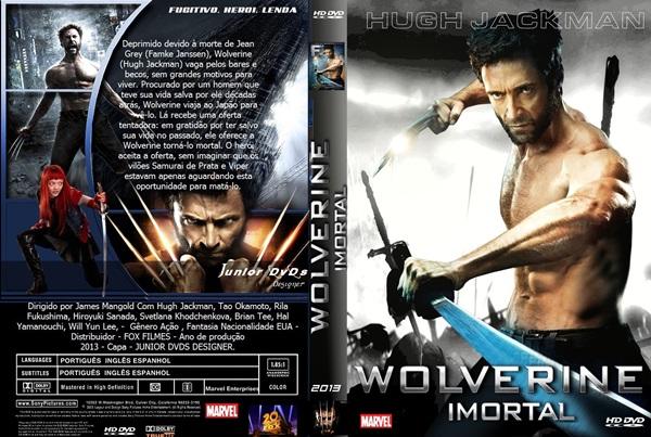 Capa do filme wolverine imortal CAPA 3 - JUNIOR DVDS DESIGNER