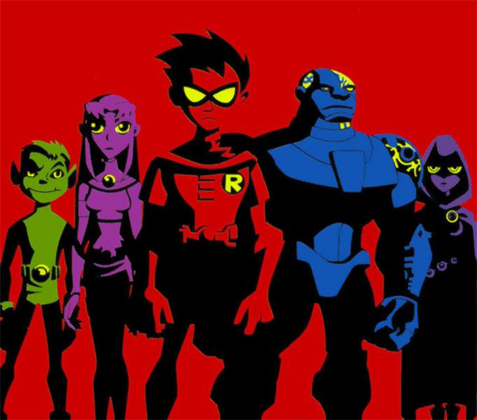 A série animada Os Jovens Titãs, do Cartoon Network.